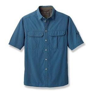 REI Co-op Sahara Tech Shirt Blue Medium Hiking Top
